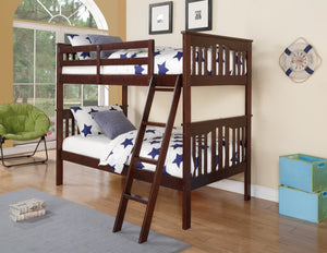 Donco Kids Franklin Dark Walnut Bed 312-WL-Bunk Beds-HipBeds.com