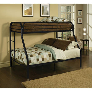 ACME Tritan Twin XL/Queen Bunk Bed Black - 02052BK-Bunk Beds-HipBeds.com