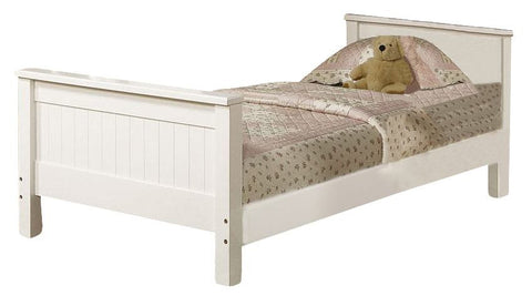 ACME Willoughby Twin Bed White - 10978A-Sleigh Beds-HipBeds.com