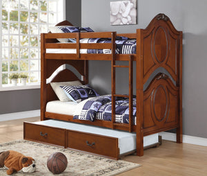 ACME Classique Twin/Twin Bunk Bed Cherry - 37005-Bunk Beds-HipBeds.com