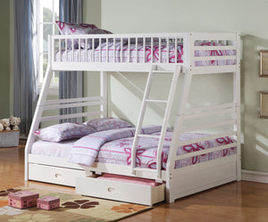 ACME Jason - Twin/Full Bunk Bed w/2 Drw White - 37040-Bunk Beds-HipBeds.com