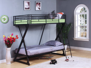 ACME Zazie Twin/Twin Bunk Bed Sandy Black - 37130-Bunk Beds-HipBeds.com