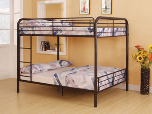 ACME Bristol Full/Full Bunk Bed Dark Brown - 37433-Bunk Beds-HipBeds.com