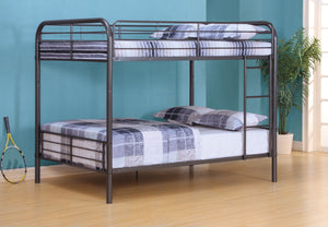 ACME Bristol Full/Full Bunk Bed Gunmetal - 37435-Bunk Beds-HipBeds.com