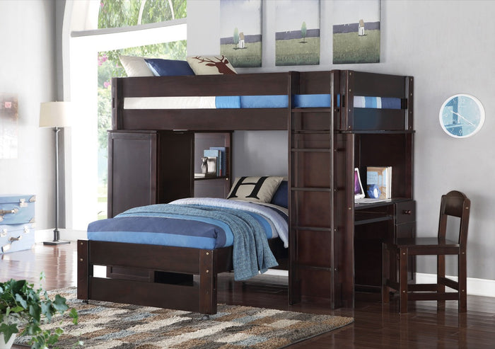 ACME Lars Loft Bed & Twin Bed Wenge - 37495