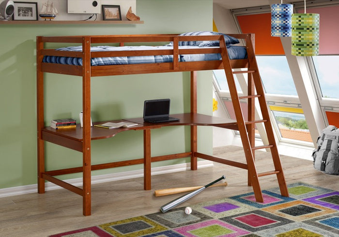 Donco Kids Tall Student Loft Corner Desk Support Bed 375-DE