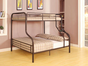ACME Cairo Twin/Full Bunk Bed Sandy Black - 37610-Bunk Beds-HipBeds.com