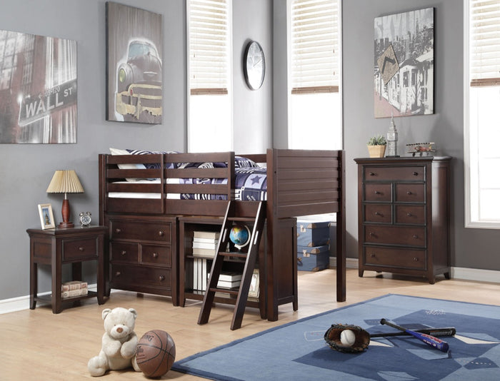 ACME Lacey Loft Bed (Twin) Espresso - 37660