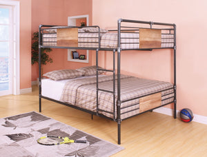 ACME Brantley Queen/Queen Bunk Bed Sandy Black & Silver - 37720-Bunk Beds-HipBeds.com