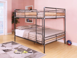 ACME Brantley II Queen/Queen Bunk Bed Sandy Black & Silver - 37730-Bunk Beds-HipBeds.com