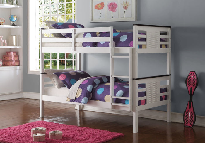 ACME Florrie Twin/Twin Bunk Bed White & Espresso - 37745