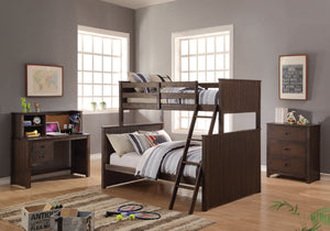 ACME Hector Twin/Full Bunk Bed Antique Charcoal Brown - 38020-Bunk Beds-HipBeds.com