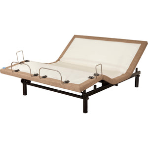 Blissful Nights M-2000 Adjustable Bed Base in Brown-Adjustable Beds-HipBeds.com