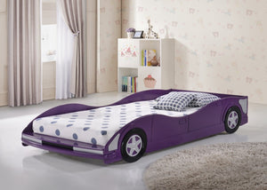 Donco Kids Race Car Bed Purple 4004-P-Platform Beds-HipBeds.com