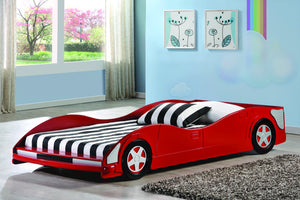 Donco Kids Race Car Bed Red 4004-R-Platform Beds-HipBeds.com