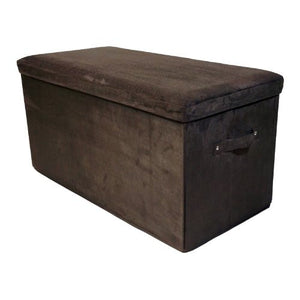 Casual Home Seat Pad Folding Storage Bench. Micro Suede Cover-Black - 112-72-Benches-HipBeds.com