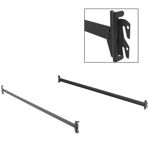 75-Inch 140H Bed Frame Side Rails w/ Hook-On Brackets for Headboards & Footboards (No Carton), Twin / Full-Bed Rails-HipBeds.com