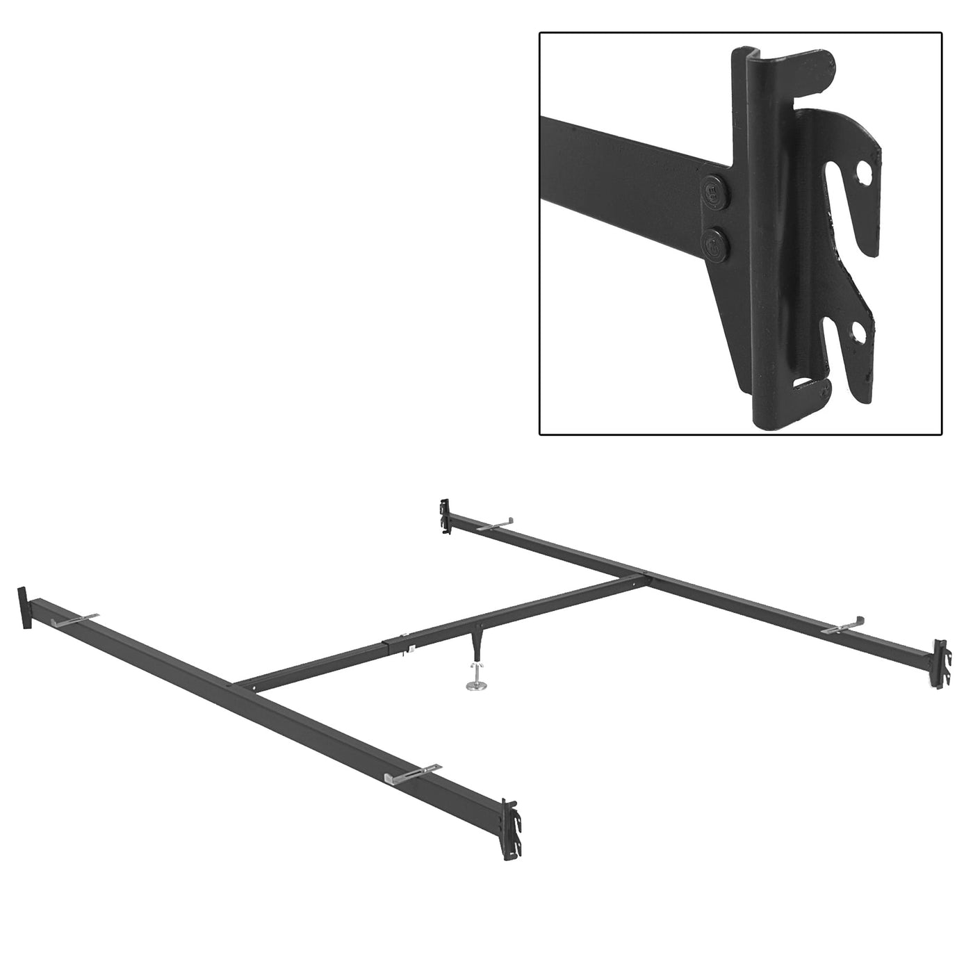 super cute 66405 c51b9 82-Inch 515/1 (90Q-1) Deluxe Full to Queen Conversion Bed Rails w/ Hook-On  Brackets & Adjustable Center Support for Headboards & Footboards, Queen
