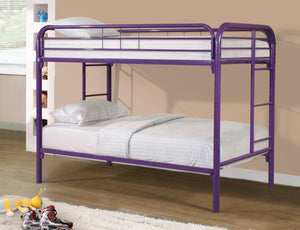 Donco Kids T/T Metal Bunk Bed Purple 4501-3-PU-Bunk Beds-HipBeds.com