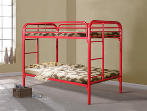 Donco Kids T/T Metal Bunk Bed Red 4501-3RD-Bunk Beds-HipBeds.com