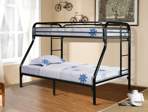Donco Kids T/F Metal Bunk Bed Black 4502-3BK-Bunk Beds-HipBeds.com