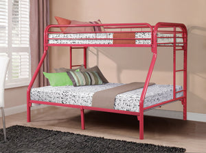 Donco Kids T/F Metal Bunk Bed Pink 4502-3HP-Bunk Beds-HipBeds.com