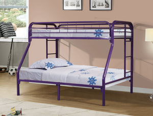 Donco Kids T/F Metal Bunk Bed Purple 4502-3PU-Bunk Beds-HipBeds.com