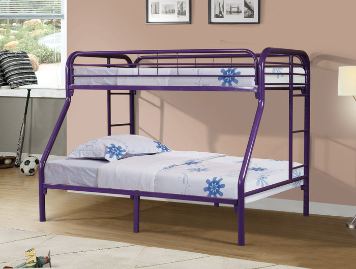 Donco Kids T/F Metal Bunk Bed Purple 4502-3PU