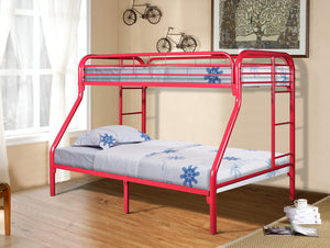 Donco Kids T/F Metal Bunk Bed Red 4502-3RD-Bunk Beds-HipBeds.com