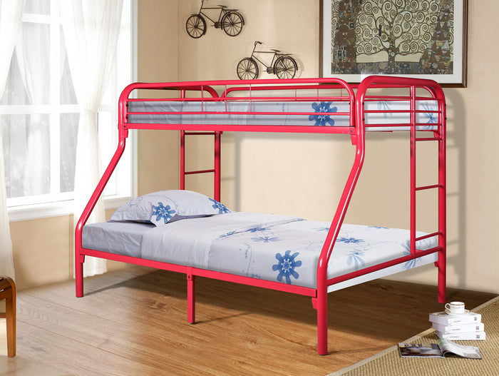 Donco Kids T/F Metal Bunk Bed Red 4502-3RD
