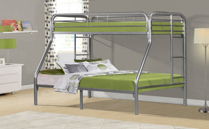 Donco Kids T/F Metal Bunk Bed Silver 4502-3SL-Bunk Beds-HipBeds.com