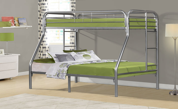 Donco Kids T/F Metal Bunk Bed Silver 4502-3SL