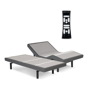 Leggett & Platt S-Cape 2.0 Adjustable Bed Base w/ Full Body Massage, Gray Finish, Split California King - 2