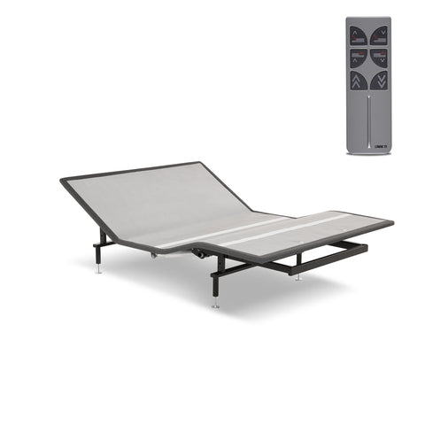 Leggett & Platt Sunrise Adjustable Bed Base for Platform Beds, Gray, Queen-Adjustable Beds-HipBeds.com
