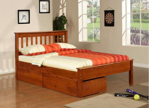 Donco Kids Full Contempo Bed Light Espresso 500-FE-Panel Beds-HipBeds.com