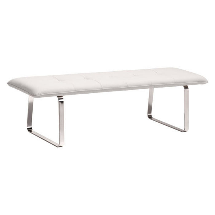 Zuo Modern Cartierville Bench White - 500178