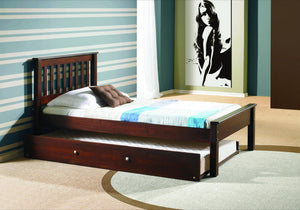 Donco Kids Contempo Bed Dark Cappucino 500-TCP-Minimalist Beds-HipBeds.com