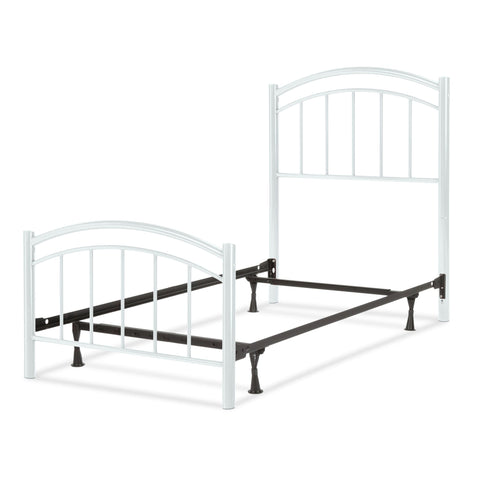 Leggett & Platt Rylan Complete Kids Bed w/ Metal Duo Panels, Cotton White Finish, Twin-Beds-HipBeds.com