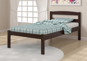 Donco Kids Econo Bed Dark Cappucino 575-TCP-Panel Beds-HipBeds.com