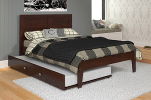 Donco Kids Full Panel Bed Dark Cappuccino 585-FCP-Panel Beds-HipBeds.com