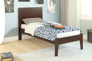 Donco Kids Twin Panel Bed Dark Cappucino 585-TCP-Panel Beds-HipBeds.com