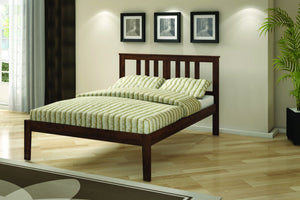 Donco Kids Full Pine Bed Dark Cappuccino 625-FCP-Panel Beds-HipBeds.com