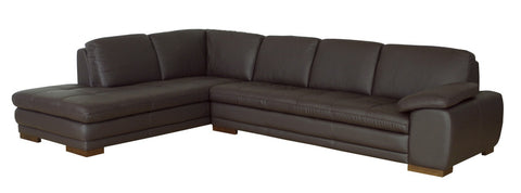 Baxton Studio Diana Dark Brown Sofa/Chaise Sectional Reverse-Sofas-HipBeds.com