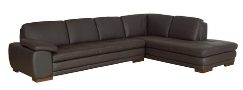 Baxton Studio Diana Dark Brown Sofa/Chaise Sectional-Sofas-HipBeds.com