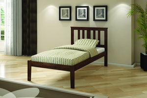 Donco Kids Twin Pine Bed Dark Cappucino 625-TCP-Panel Beds-HipBeds.com