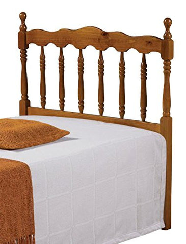 Donco Kids Twin Spindle Headboard Honey 704-TH-Headboards & Footboards-HipBeds.com