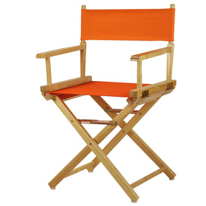 "Casual Home 18"" Director's Chair Natural Frame-Tangerine Canvas - 200-00/021-59-Chairs-HipBeds.com"