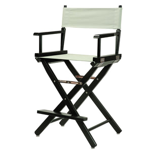 "Casual Home 24"" Director's Chair Black Frame-Gray Canvas - 220-02/021-18-Chairs-HipBeds.com"