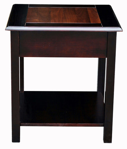 American Trails Nassau End Table with American Walnut Top - 655-13-Tables-HipBeds.com