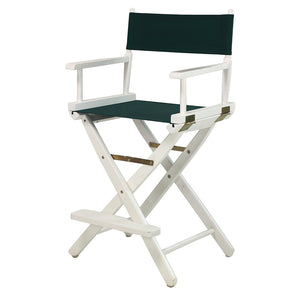 "Casual Home 30"" Director's Chair White Frame-Hunter Green Canvas - 230-01/021-32-Chairs-HipBeds.com"